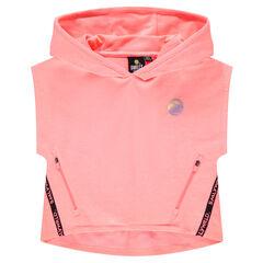 Junior - Sweat court à capuche avec ©Smiley printé poches zippées