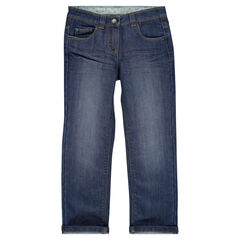 Junior - Jeans coupe droite effet used , Orchestra