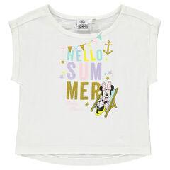 Tee-shirt manches courtes print Disney Minnie