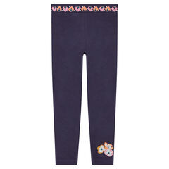 Legging en jersey avec fleurs printées