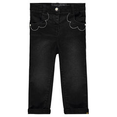 Jeans noir avec poches fantaisie