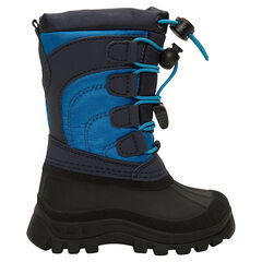 Sneeuwlaarzen voor jongens van nylon met rubberen bekleding en ritssluiting van maat 20 tot 23