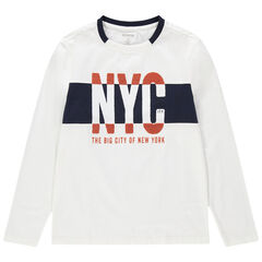 Junior - T-shirt manches longues en jersey print NYC