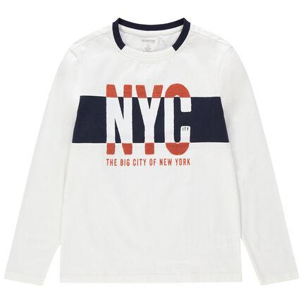 Junior - T-shirt manches longues en jersey print NYC