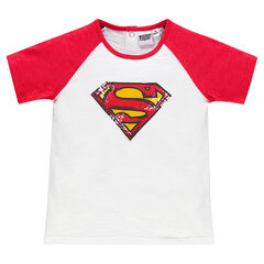 Tee-shirt manches courtes DC Comics print logo Superman