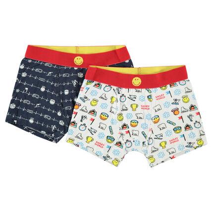 Set van 2 katoenen ©Smiley boxers met motief