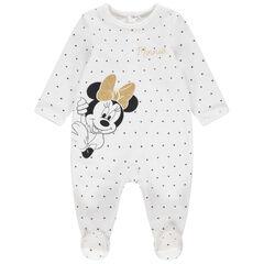 """Pyjama van velours met stippen """"all-over"""" en print van Minnie Disney"""