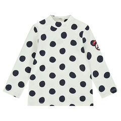 Sous-pull en jersey à pois all-over avec motif brodé