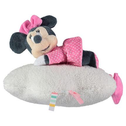 Muzikale Disney Minnie knuffel van velours en sherpa