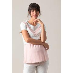 T-shirt manches courtes en jersey avec découpes contrastées