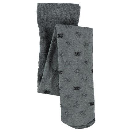 Dikke panty's met strikken van jacquard