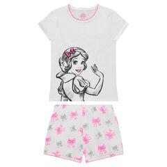Pyjama court en jersey ©Disney avec print Blanche Neige