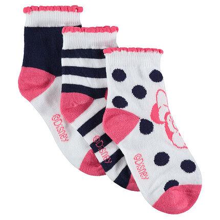 Lot de 3 paires de chaussettes avec Minnie ©Disney en jacquard