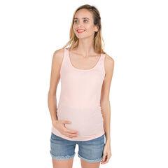 Geribde zwangerschapstanktop met fantasierug