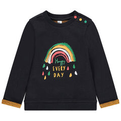 Sweat molleton print arc-en-ciel