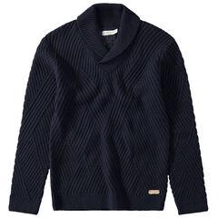 Junior - Pull en tricot fantaisie col châle
