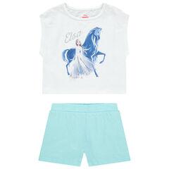 Ensemble avec t-shirt print Elsa Reine des neiges et short uni , Orchestra
