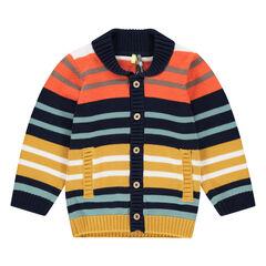 Gilet en tricot avec rayures jacquard all-over