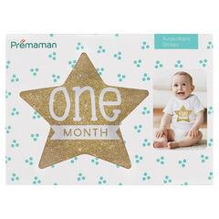 12 Stickers en forme détoile mois par mois