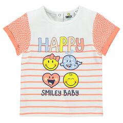 Tee-shirt manches courtes imprimé et printé ©Smiley
