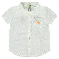 Chemise manches courtes imprimée all-over avec poche
