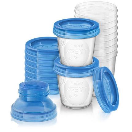 Bewaarbekers voor moedermelk 180 ml 10 stk