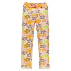 Jegging in molton bloemprint