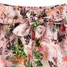 Pantalon fluide court avec imprimé floral all-over