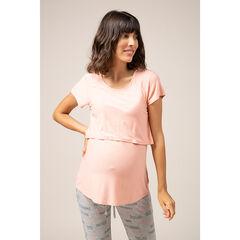 Effen homewear zwangerschaps- en borstvoedings-T-shirt