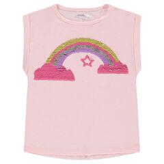 T-shirt met korte mouwen met motief van magische lovertjes