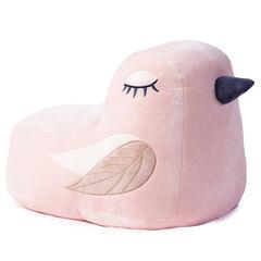 Pouf forme oiseau à détails brodés