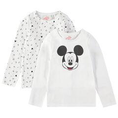 Set van 2 body's met lange mouwen met print van Mickey Disney