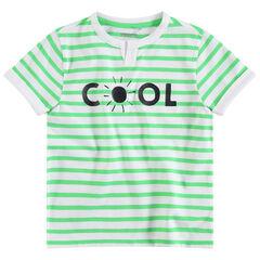 T-shirt met korte mouwen en contrasterende strepen