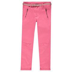 Junior - Pantalon 7/8ème en twill avec ceinture amovible