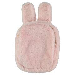 Lunchzak van namaakbont in de vorm van een konijn