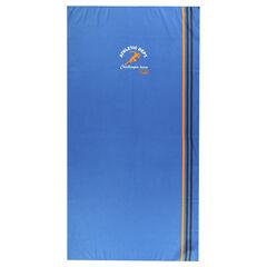 Serviette de bain unie avec bandes 80 x 160 cm