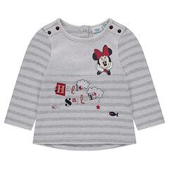 Marinière en molleton Disney avec prints Minnie