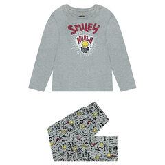 Pyjama van jerseystof met ©Smiley-prints