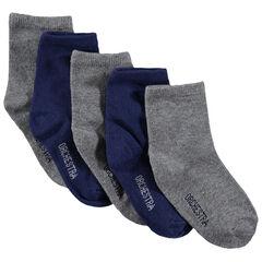Lot de 5 paires de chaussettes unies