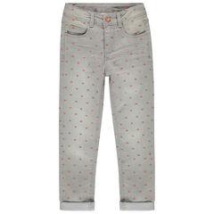 """Jeans met used effect en """"all-over"""" sterren"""
