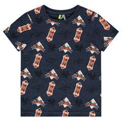 """T-shirt met korte mouwen in jerseystof met print """"all-over"""""""