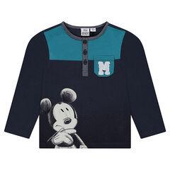 Tee-shirt manches longues Disney print Mickey