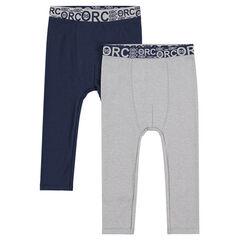 Lot de 2 leggings en coton avec taille élastiquée