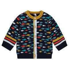 Gilet en tricot avec motif all-over