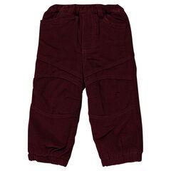 Pantalon en velours milleraies doublé polaire