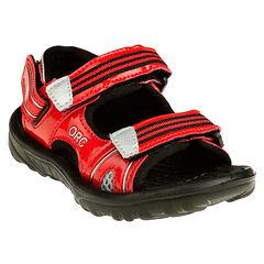 Verniste sandalen met klittenbandsluiting
