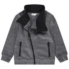 Vest van molton en zakken met ritssluiting