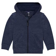 Junior - Vest met kap en ritssluiting uit molton