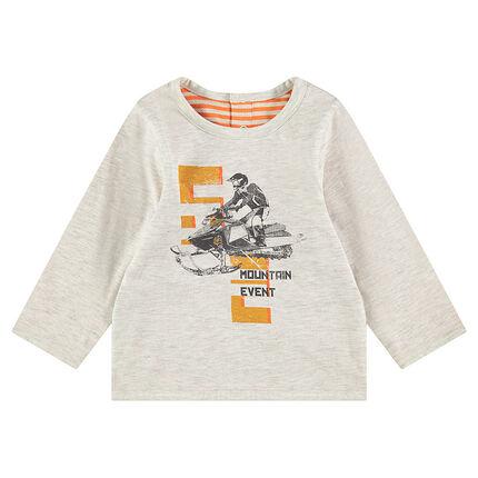T-shirt met lange mouwen van omkeerbare jerseystof