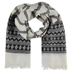 Sjaal met geometrische motieven